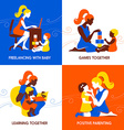 Design concept of beautiful woman and child vector image vector image