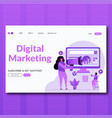 digital marketing- flat style digital marketing vector image