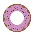 donut glazed with sprinkles icon vector image vector image