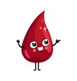 drop blood cute cartoon character vector image