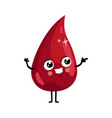 drop of blood cute cartoon character vector image vector image