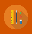 Education Flat Icon Stationary vector image