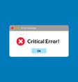 Error message computer window alert popup system