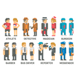 Flat design people with professions set vector image vector image