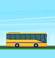 flat of a bus eps10 vector image vector image