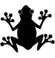 Frog print logo vector image