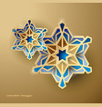 geometric art islamic design background vector image vector image