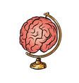 globe international human brain consciousness vector image