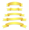 Gold Ribbons Flags vector image