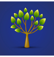 graphic tree web icon design vector image vector image