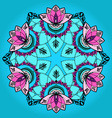 Hand-drawn lotus in east style in mandala vector image vector image