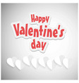 happy valentines day card with grey background vector image vector image