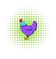 Hen icon in comics style vector image vector image
