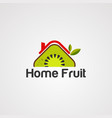 home fruit logo icon element and template vector image vector image