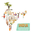 india map design concept vector image vector image