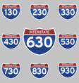 INTERSTATE SIGNS 130-930 vector image vector image