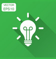light bulb icon in flat style lightbulb with long vector image