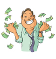 Man with money vector image vector image