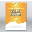 Merry Christmas Orange Invitation Card design vector image vector image
