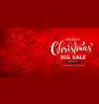 merry christmas sale lettering greeting card vector image vector image