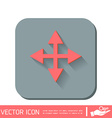 move arrows vector image vector image