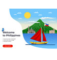 philippines tourism vector image vector image