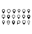 pin icon for map location point marker for gps vector image vector image