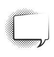 pop art speech bubble template halftone style vector image vector image