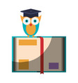 realistic colorful shading image of owl knowledge vector image vector image