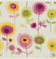 retro flowers seamless pattern vector image vector image