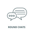 round chats line icon linear concept vector image vector image