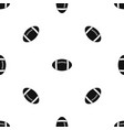rugby ball pattern seamless black vector image vector image