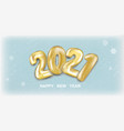 snow 2021 new year banner vector image