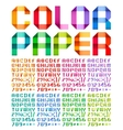 Spectral alphabet folded of paper ribbon colour vector image vector image