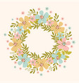spring wreath floral flower hand drawn vector image