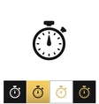 stopwatch sign or quick accurate analogue clock vector image vector image