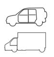 transport symbols vector image vector image
