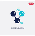 two color chemical diagram icon from education vector image vector image