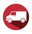 van delivery vehicle isolated icon vector image vector image