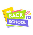 Welcome back to school educational promo banner