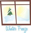 Winter Freeze vector image vector image