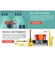 banners of musical Instruments I vector image