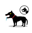 rabid dog in flat style and icon vector image