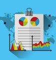 statistics data business report vector image
