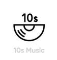 10s music vinyl icon editable line vector image