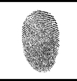 a finger print vector image vector image
