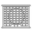 air conditioner compressor icon outline style vector image vector image