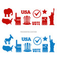 american elections sign set republican elephant vector image vector image