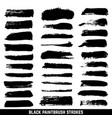 artistic ink paint blob brushes inked vector image vector image