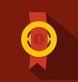 award ribbon icon flat vector image vector image
